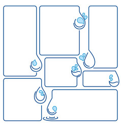 water drop ecology set of banner frames vector image