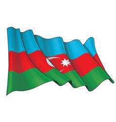 Waving flag azerbaijan vector