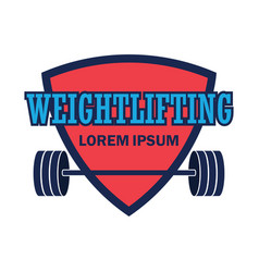 Weight lifting logo with text space for your sloga vector