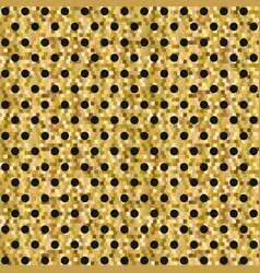 Yellow pixelated backgound with dots pattern vector