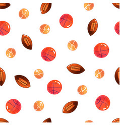 ball seamless pattern sport background vector image