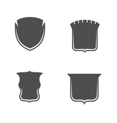 empty monochrome shields collection vector image