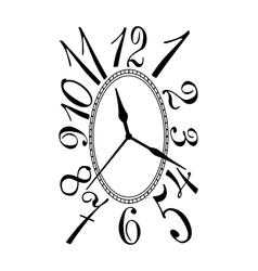 Retro clock dial vector image