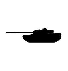 tank the black color icon vector image vector image