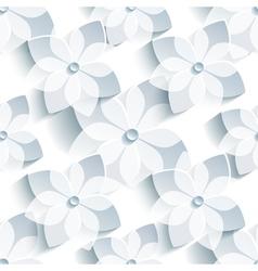 Background decorative seamless pattern with sakura vector image
