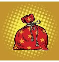 Bag of Santa Claus Christmas and New year vector image