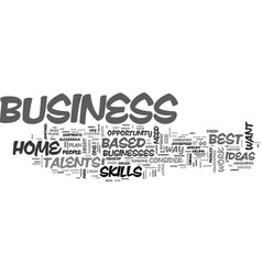 best successful home based business opportunities vector image vector image