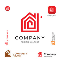 house construction modern logo building business vector image vector image