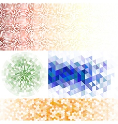 Set of mosaic backgrounds vector image vector image