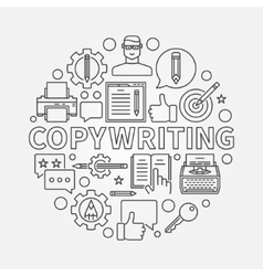 Copywriting round line vector image