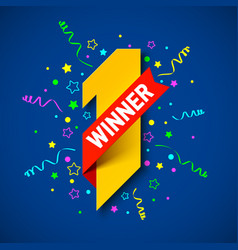 first winner first place vector image vector image