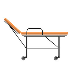 gurney wheeled stretcher used for transporting vector image