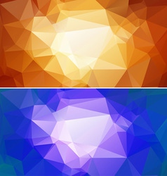Polygon Paper Backgrounds 02 vector image vector image