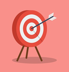 Arrow hitting target vector