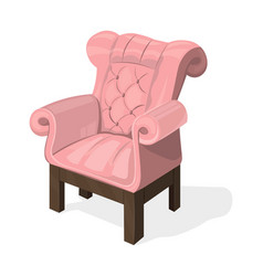 chair isolated on white modern upholstery vector image