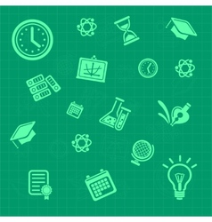 education background green Pattern vector image vector image