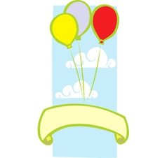 Party Balloon Banner vector image vector image