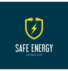 Safe Energy With Blizzard Concept Symbol Icon or vector image