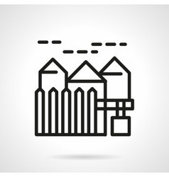 Suburban real estate simple line icon vector image vector image