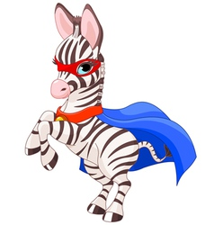 Super Zebra vector image