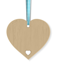 Wooden heart vector image