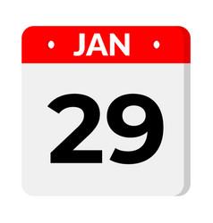 29 january calendar icon vector