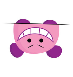A crazy monster in pink and purple color or color vector