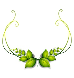 A simple leafy border vector image
