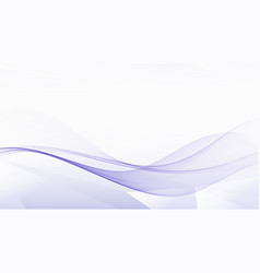 abstract blue wave background wave flows vector image