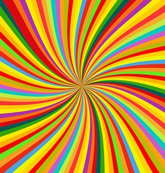 Abstract Colorful retro rotation Background vector image vector image
