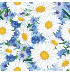 Abstract floral seamless pattern summer flower vector