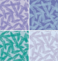 Abstract grunge painted texture set seamless vector