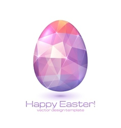 Abstract triangles egg vector image