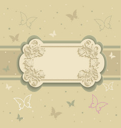 background with butterflies on frame vector image