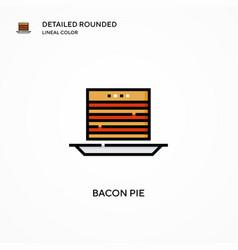 Bacon pie icon modern vector