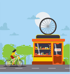 Bicycle repair and maintenance service tools and vector