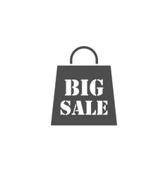 Big sale bag icon vector image