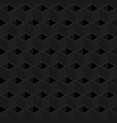 Black cubes pattern seamless background vector