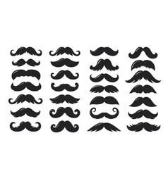 Black sillhouettes moustache collection vector