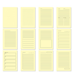 blank beige notebook page template vector image