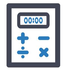 calculator calculation finance icon vector image