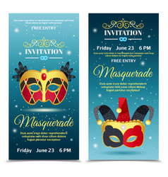 Carnival invitation vertical banners vector