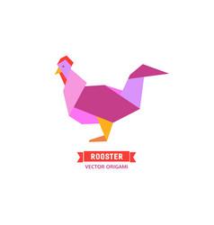 cartoon cock icon vector image