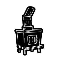 Cartoon icon drawing of a house furnace vector