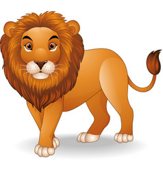 Cartoon lion character vector