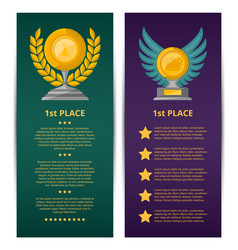 Championship awards ceremony banners set vector