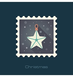 Christmas Star flat stamp vector