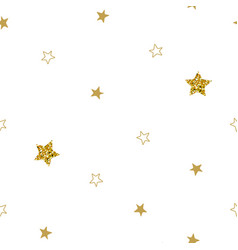 christmas stars seamless pattern stars on white vector image