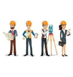 Civil engineers vector