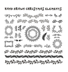 Collection hand drawn design elements vector